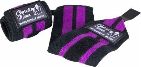 Бинты кистевые для фиксации запястья Gorilla wear Womens Wrist Wraps (Black/Purple)