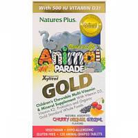 Витамины для Детей Вкус Ассорти Natures Plus Animal Parade Gold (120 жевательных таблеток)