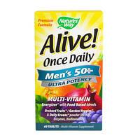 Вітаміни для чоловіків nature's Way Once Daily men's 50+ (60 таб) Оригінал! (335119)