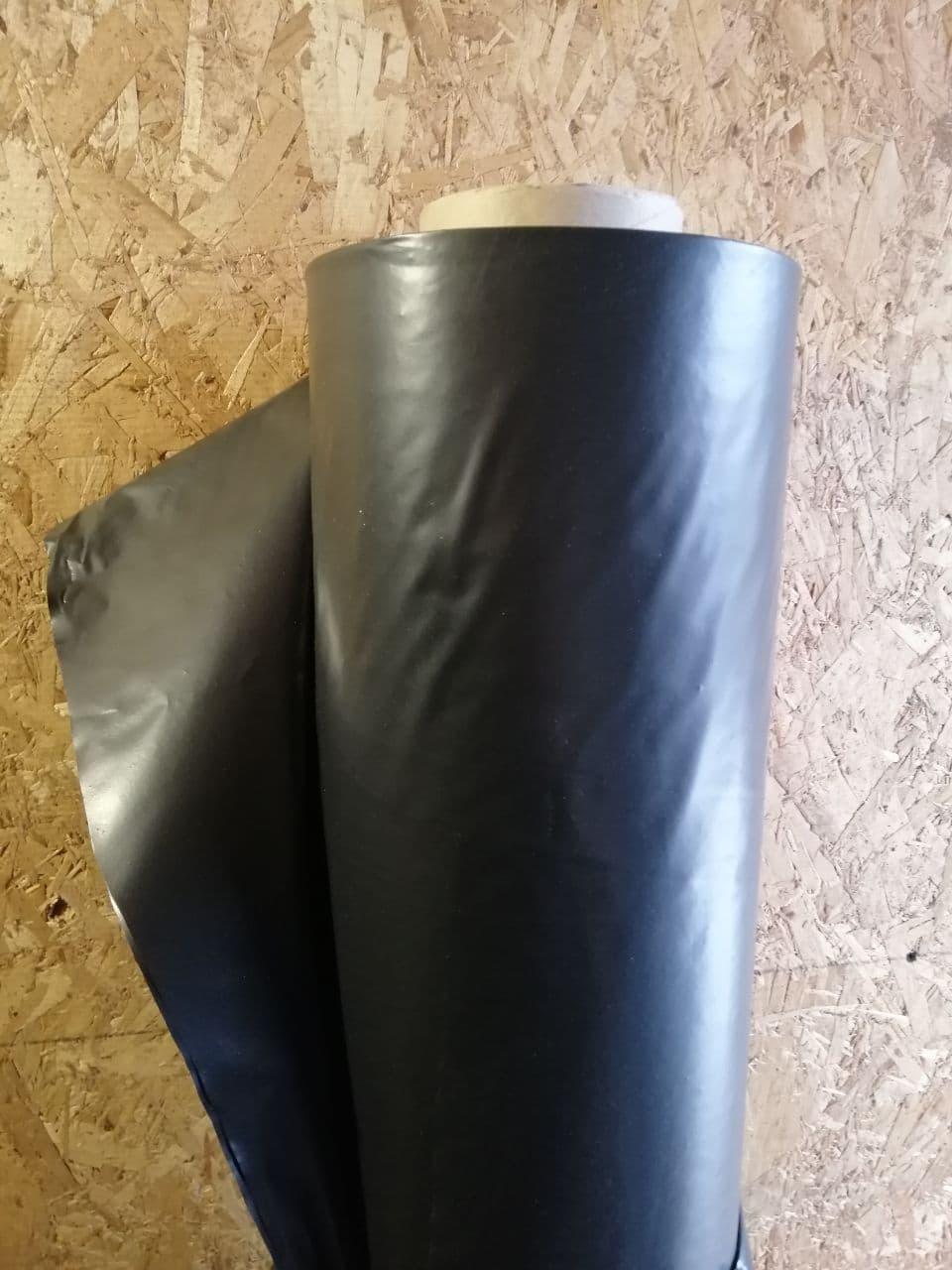 Пленка полиэтиленовая черная 3x100м (110 мкм) строительная, для мульчирования