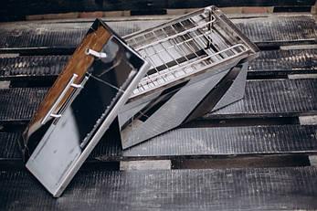 Коптильня з нержавіючої сталі 1,5 мм 450х240х240 (Чохол+рукавички), фото 2