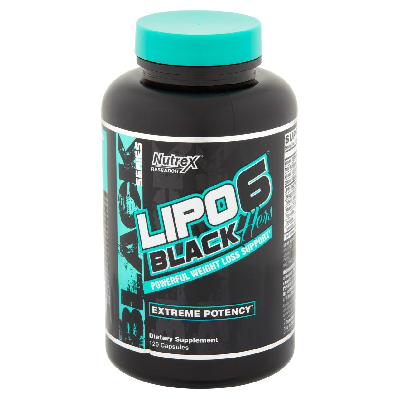 Жиросжигатель Nutrex Lipo 6 Black Hers (120 капс)