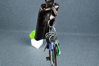 Ключниця на блискавки, Шкіра Пуллап, колір Кава, фото 2