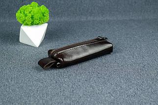 Ключниця на блискавки, Шкіра Пуллап, колір Кава, фото 3