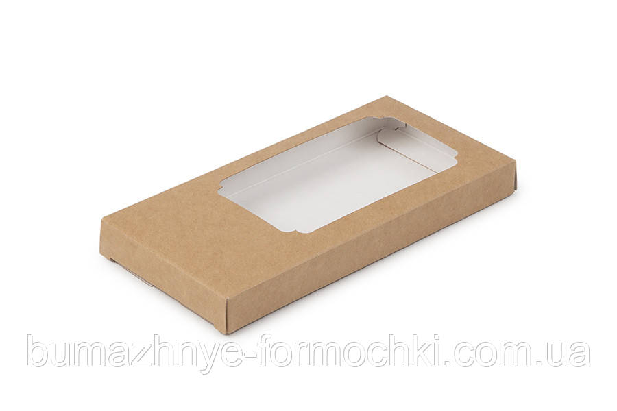 Коробка для шоколаду, крафт, 155*75*11