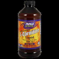 Жиросжигатель NOW L-Carnitine Liquid 3000 mg (473 мл)