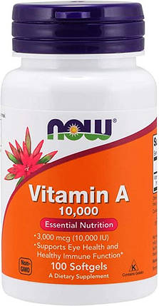 Vitamin A NOW Foods 100 Softgels, фото 2