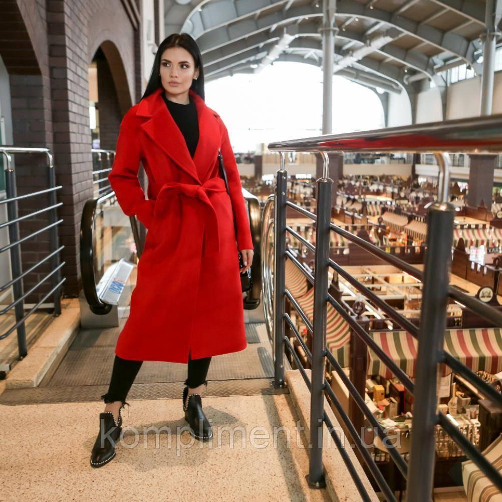 """Модное красное молодежное женское весеннее пальто """"Мадрид"""""""