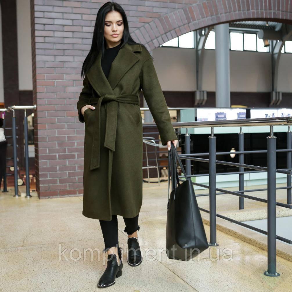 """Модна молодіжна жіноча весняне пальто """"Мадрид"""", хакі"""