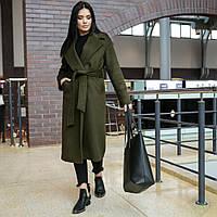 """Модна молодіжна жіноча весняне пальто """"Мадрид"""", хакі, фото 1"""