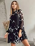Платье женское шифоновое черное, фото 3