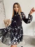 Платье женское шифоновое черное, фото 2