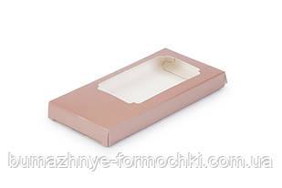 Коробка для шоколада, коричневый металлик, 155х75х11 мм