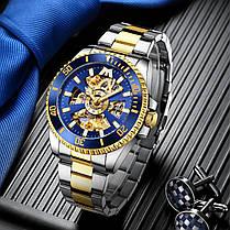 Мужские часы Chronte Robert Silver-Blue-Gold, фото 3