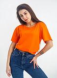 Футболка однотонная (оранжевая) универсальная, фото 2