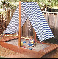 """Дитяча пісочниця з навісом """"Кораблик"""" ТМ SportBaby, розмір 0.3х1.5х2м"""