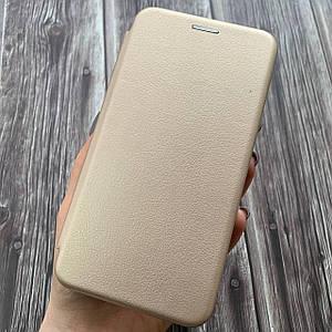 Чохол книжка з магнітом для Samsung Galaxy A01 еко шкіра підставка чохол книга на самсунг а01 золота