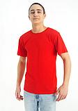 Футболка однотонная (красная) универсальная, фото 4