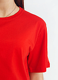 Футболка однотонная (красная) универсальная, фото 6