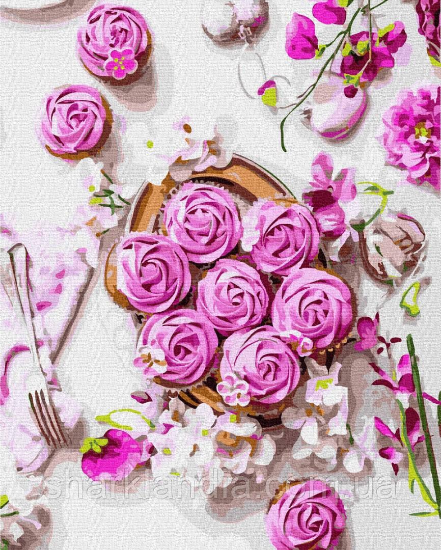 Картина по номерам Розовые безе 40*50см Brushme Цветы