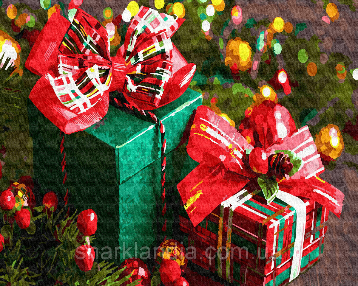 Картина за номерами Новорічні подарунки 40*50см Brushme Розмальовки по цифрам