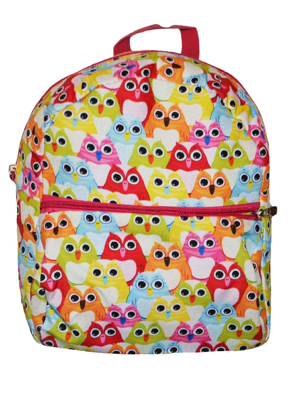 Рюкзак для девочек Совы разноцветный