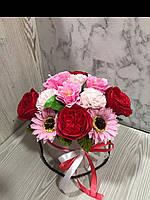 Букет из нежных мыльных роз в коробке