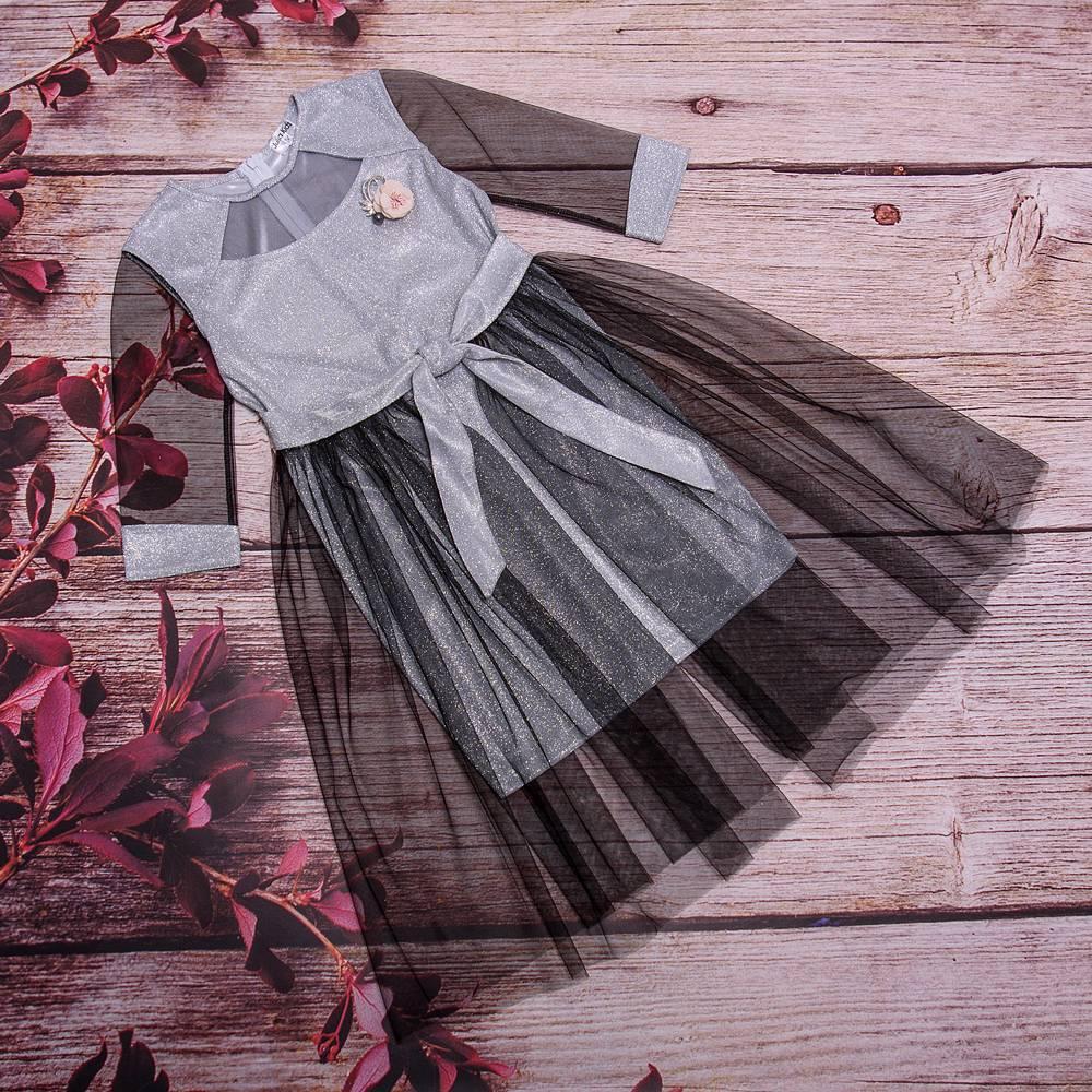 Дитяче плаття прямого силуету зі знімною фатиновой спідницею розміри 128-152