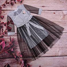 Детское платье прямого силуэта со съемной фатиновой юбкой размеры 128-152