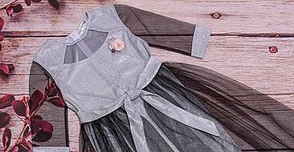 Детское платье прямого силуэта со съемной фатиновой юбкой размеры 128-152, фото 2