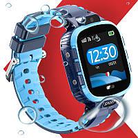 Детские Smart Baby Watch JETIX DF45 Anti Lost Edition оригинальные для ребенка часы (Blue)