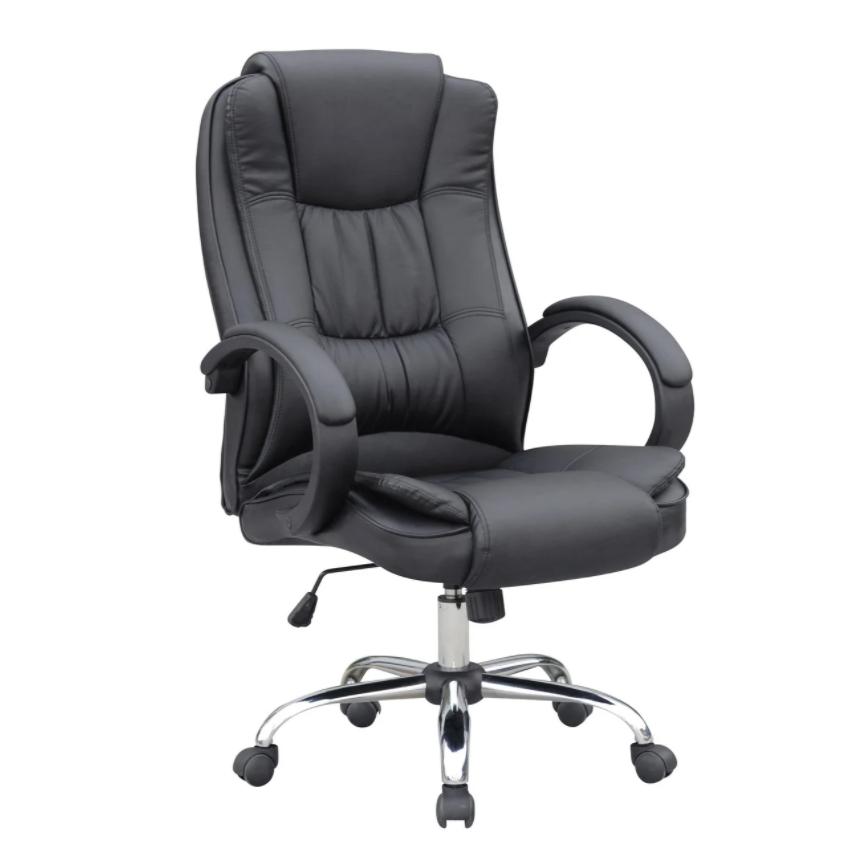 Кресло офисное компьютерное AMB Черное Нагрузка 130 кг  ПОЛЬША