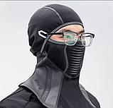 Балаклава ROCKBROS LF7913 до -10! зимовий фліс лижна маска, підшоломник, фото 3