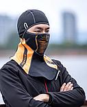 Балаклава ROCKBROS LF7913 до -10! зимовий фліс лижна маска, підшоломник, фото 4
