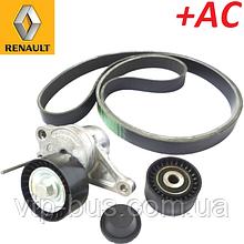 Комплект ремня генератора на Renault Trafic / Opel Vivaro 2.0dCi +AC (2006-2014) Renault (оригинал) 7701476645