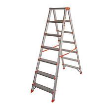 Стремянка двусторонняя алюминиевая Laddermaster Polaris A5A7. 2x7 ступенек