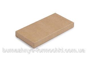 Коробка для шоколада, крафт, без окна 160х80х17