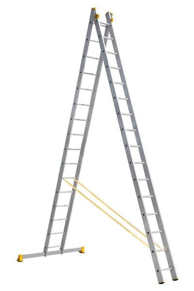 Драбина алюмінієва професійна двосекційна 2 на 16 ступенів