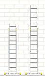 Лестница алюминиевая профессиональная двухсекционная 2 на 14 ступеней, фото 5