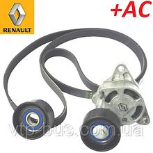 Комплект ремня генератора Renault Trafic 2.5dCi G9U730 135 л.с.+AC (2003-2006) Renault (оригинал) 7701475628