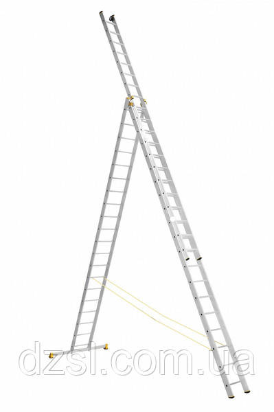 Лестница алюминиевая трехсекционная универсальная 3 х 20 ступеней (профессиональная)