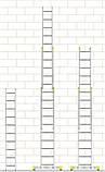 Лестница алюминиевая трехсекционная универсальная 3 х 20 ступеней (профессиональная), фото 5