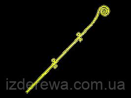 Опора для орхидей Спираль 64см жёлтая