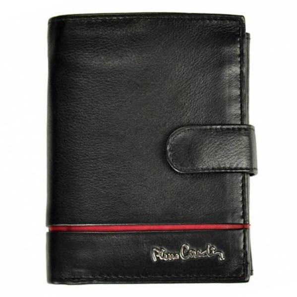 Мужское портмоне кожаное вертикальное черное Pierre Cardin 326A TILAK15