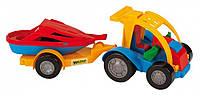 Машинка  авто-багги с прицепом и лодочкой Wader Тигрес