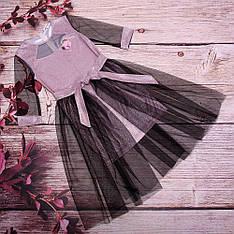 Платье детское со съемной фатиновой юбкой размеры 128-152