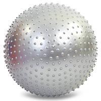 Мяч массажный с шипами 75 см, фитнес мяч с шипами, 1350г, ABS, с насосом, разные цвета