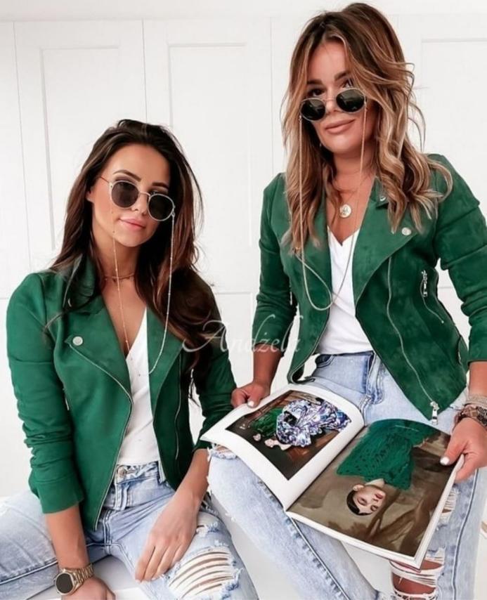 Женская куртка-пиджак.  Ткань замш на дайвинге. Цвет черный, бежевый, пудра, зеленый, хаки Размер СМ, ЛХЛ.