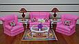 """Лялькова меблі 9704 Gloria """"Вітальня"""", диван, крісла, столик, фото 2"""