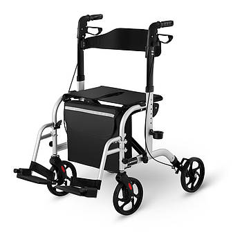Ходунок - четырехколесный - сумка - серебристый - 2в1 Uniprodo Марка Европы